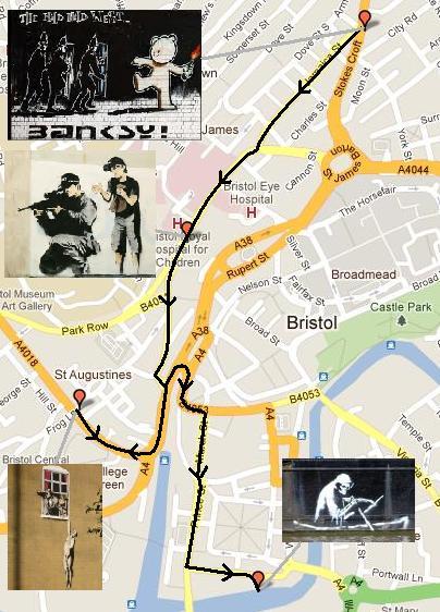 Banksy Tour Route